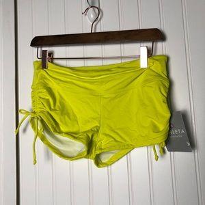 Athleta yellow scrunch shorts ahoy spandex
